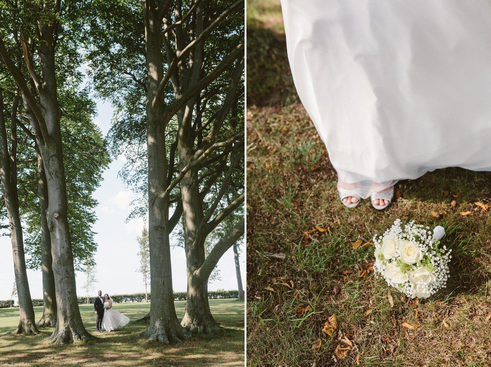 Brudbukett bröllop natur