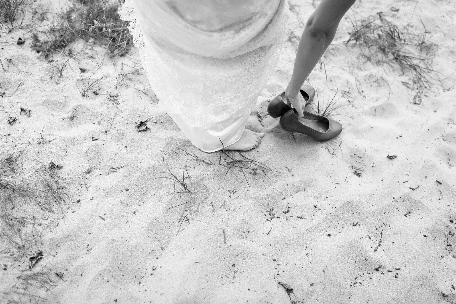 Swedish Barefoot Backyard Wedding
