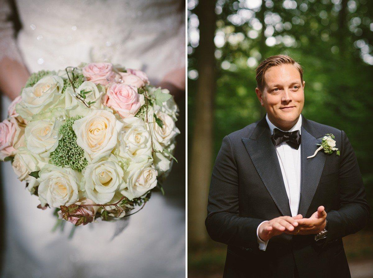 Bröllopsbukett Brudgum