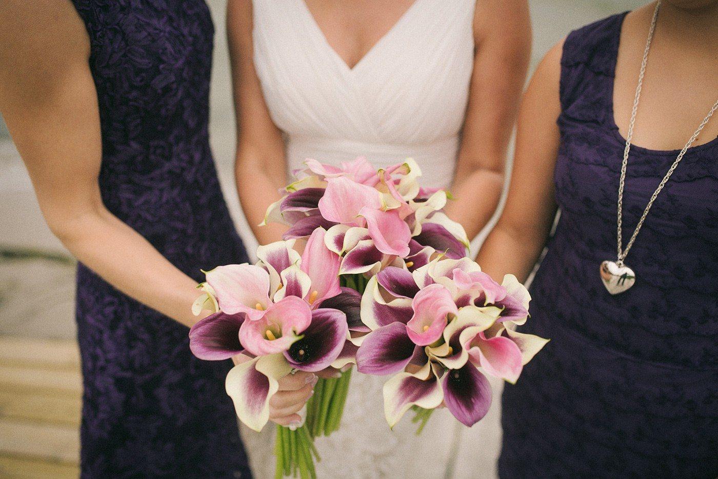 brudbukett havsbröllop