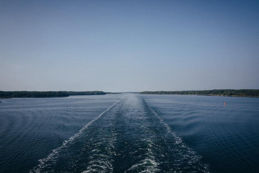 Brollopsfotograf aland havsvidden