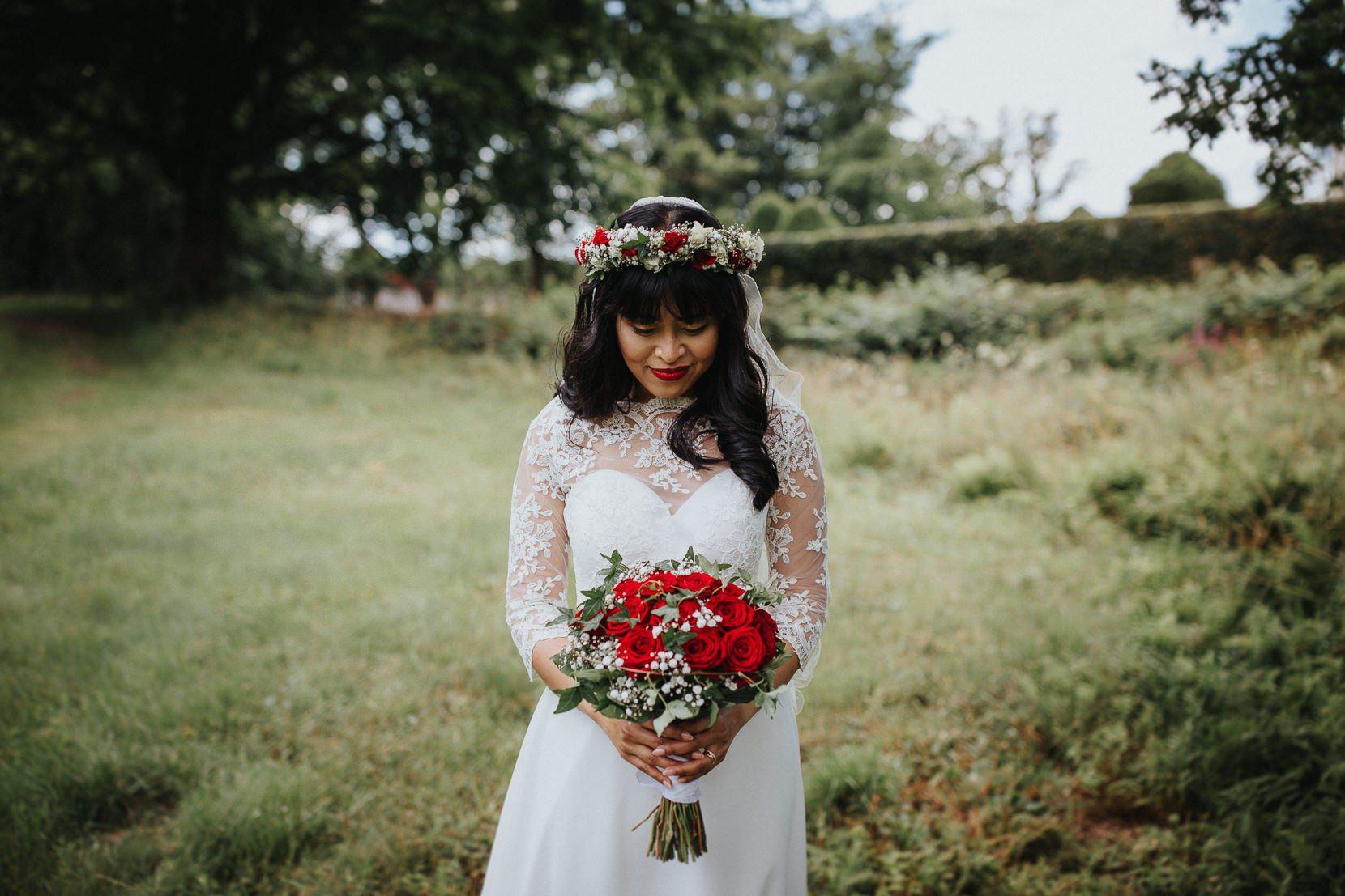 Bröllopsbukett Österlen Kronovalls Vinslott