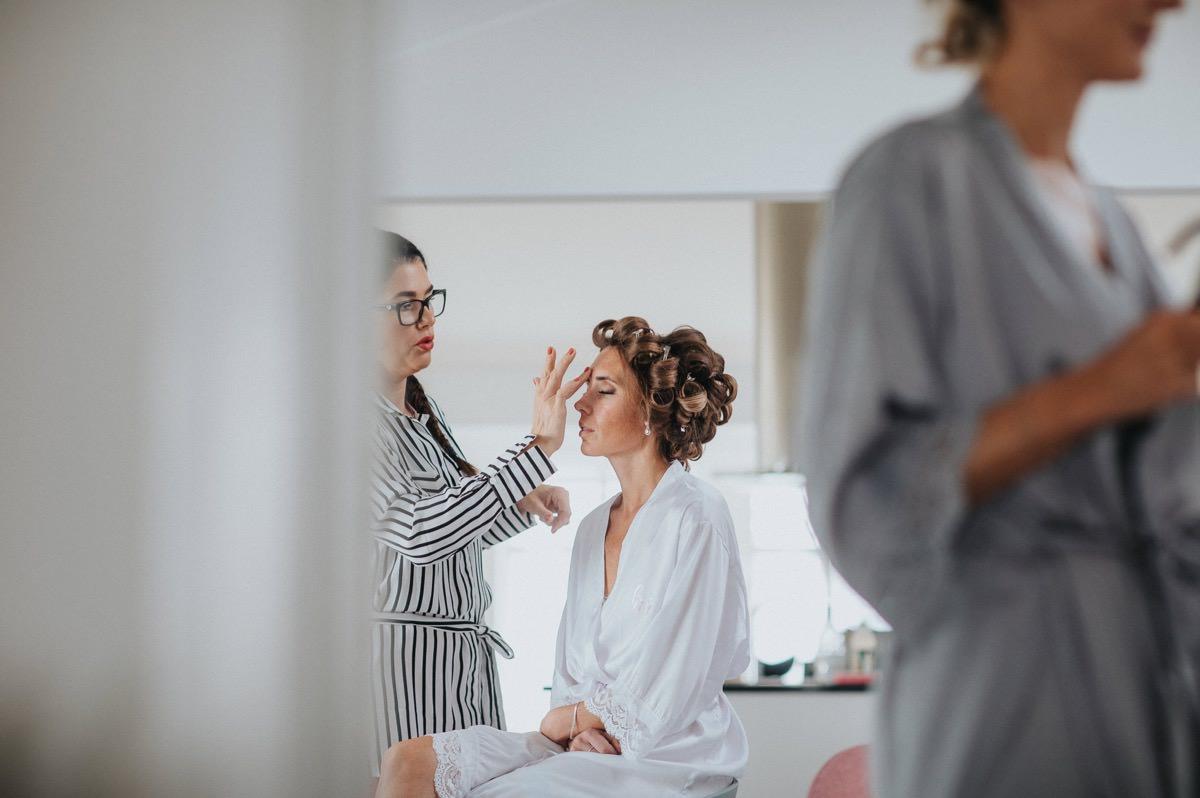 makeup bröllop förberedelser