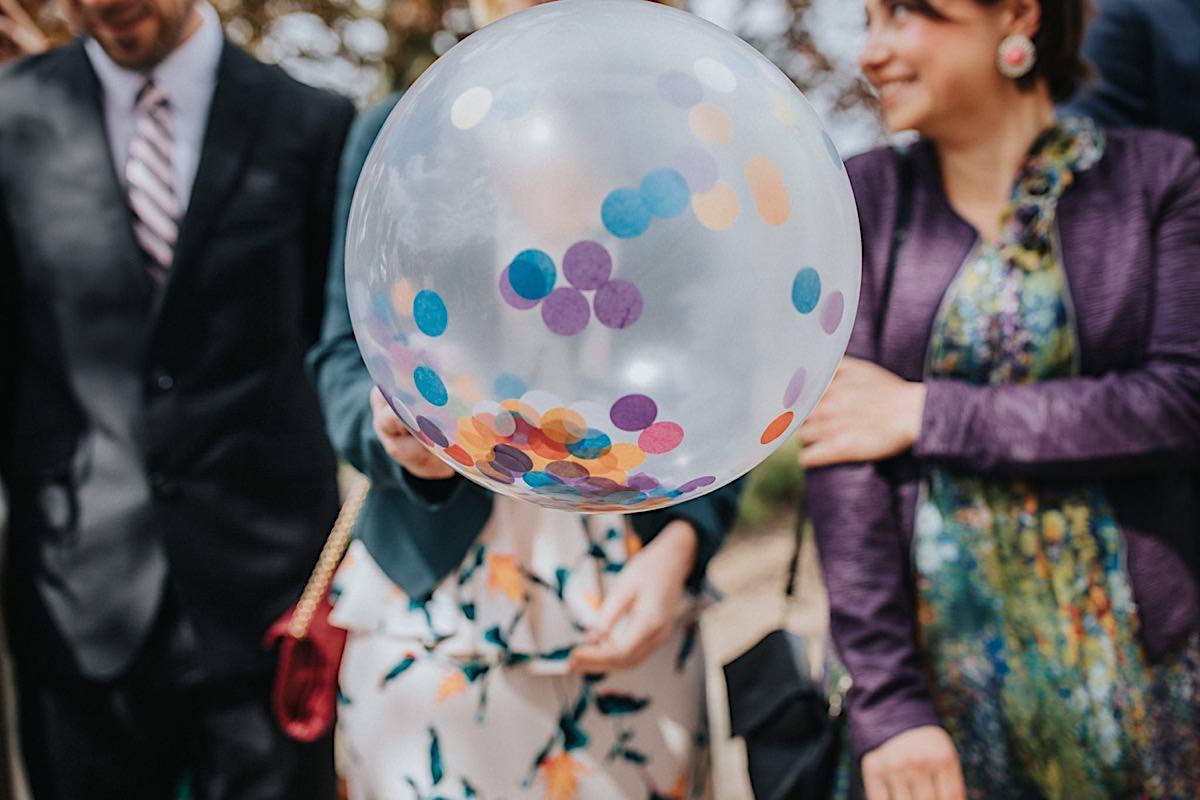 Konfetti Bröllop ballonger